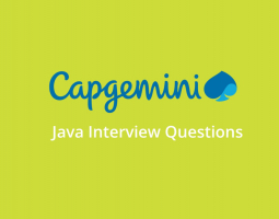 Capgemini Java interview questions