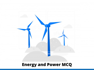 Energy and Power MCQ